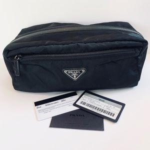 Prada Black Nylon Large Pouch